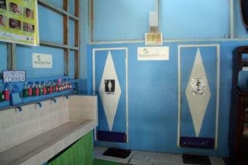 New latrines at the school built by Samaritan's Purse.