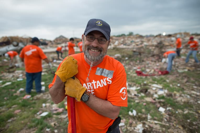 Tommy was impacted by the Joplin, Missouri, tornado, but experienced hope as Samaritan's Purse helped him clean up and rebuild his home. He volunteered for the Moore, Oklahoma, tornado two years later.