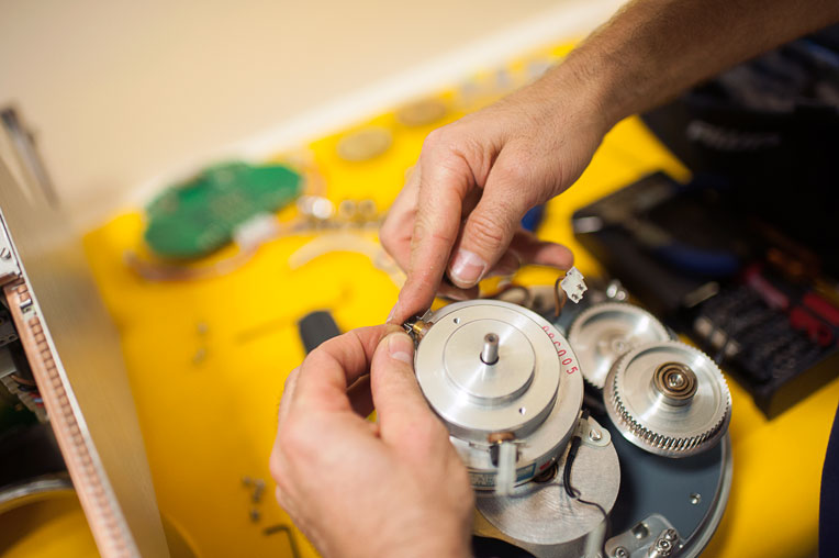 Biomedical technicians ensure that critical equipment is ready for our medical teams to use.