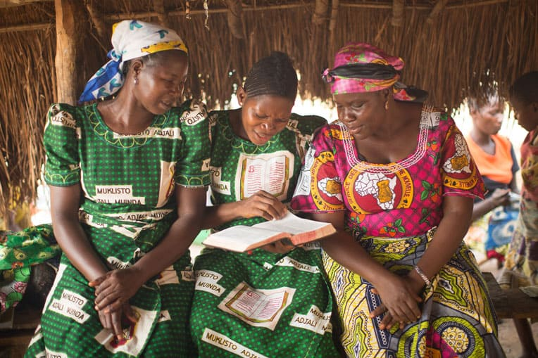 """These women in the Democratic Republic of the Congo find """"Your word was to me the joy and rejoicing of my heart"""" (Jeremiah 15:16)."""
