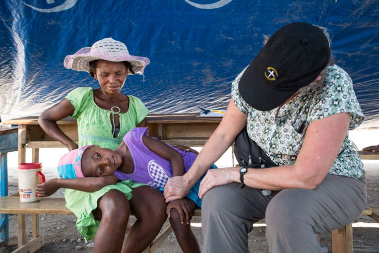 Our team treated many children sick with cholera.