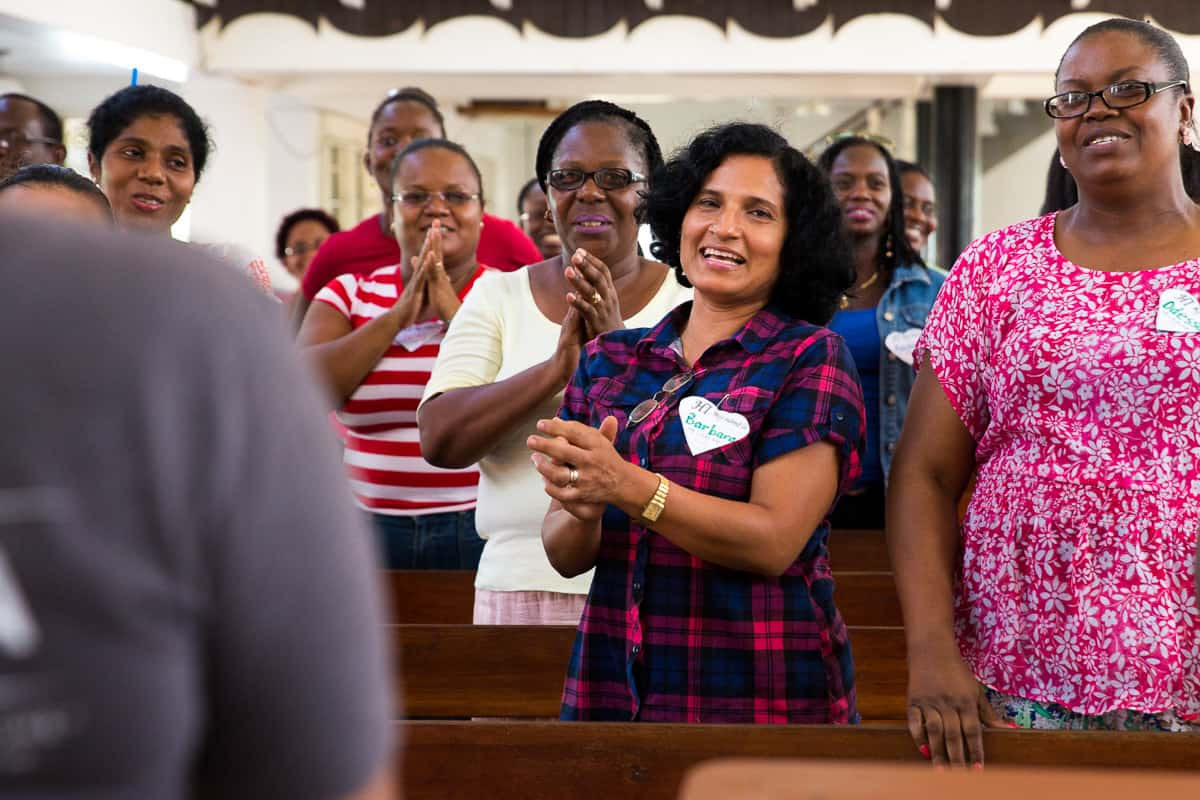 During a training, teachers learn a new Gospel song that they can teach to children as part of The Greatest Journey.