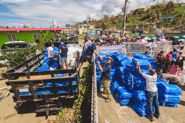 Samaritan's Purse is distributing tons of relief supplies to thousands of families in Puerto Rico.