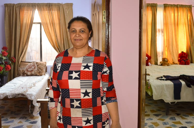 Doreena* was widowed when terrorists killed her husband because he was a Christian. Samaritan's Purse helped rebuild her home, and Doreena chose a sparkling pink for the wall color.