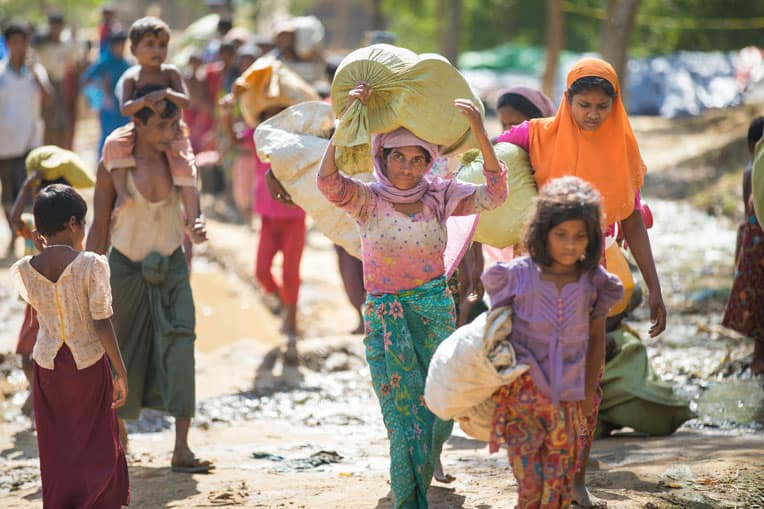 Nearly 700,000 Rohingya refugees have fled from Bangladesh from Myanmar.