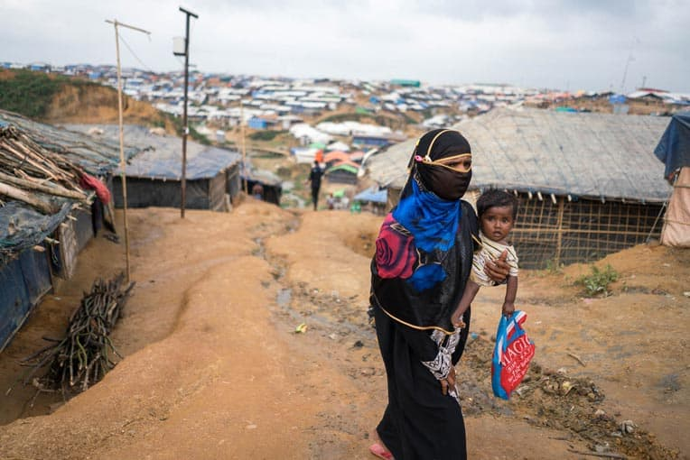 Many Rohingyas traveled for days through the jungles to get to the refugee camps.