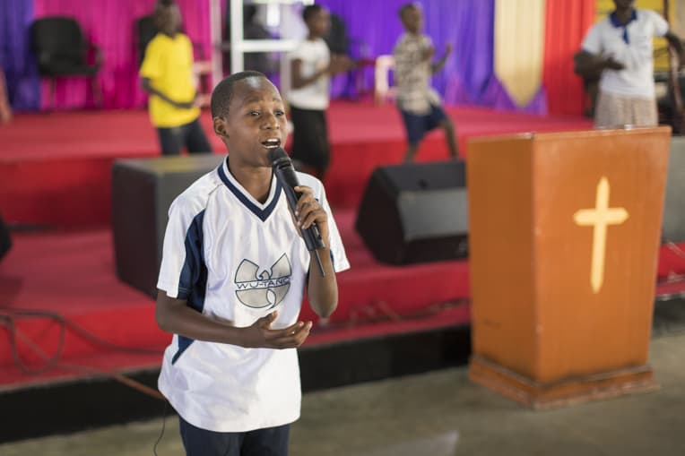 Mwita sings in his church now and has a desire to help others find hope in Christ.