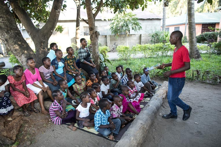Kwale teaches The Greatest Journey to children and youth in his community.