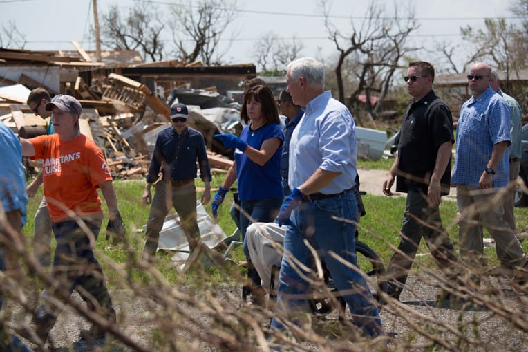 Vice President Mike Pence was among the many volunteers who worked with our disaster relief teams in Houston.