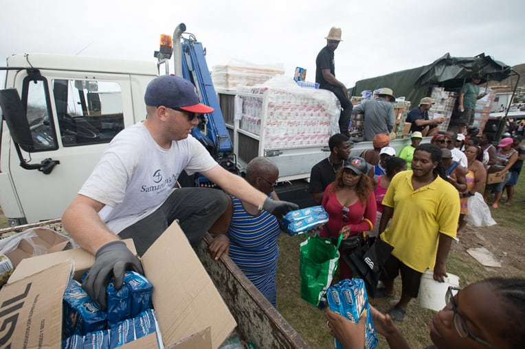 Caribbean Islands were cut off from normal supply sources and infrastructure was decimated for many areas. Samaritan's Purse delivered life-saving food and water filtration in many places.