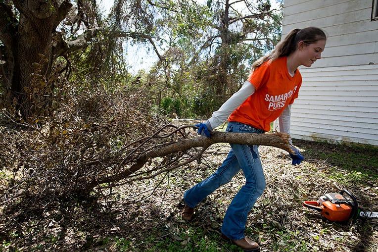 Volunteer Kaitlyn Zartmann, 16, came to Florida to serve in Jesus' Name.