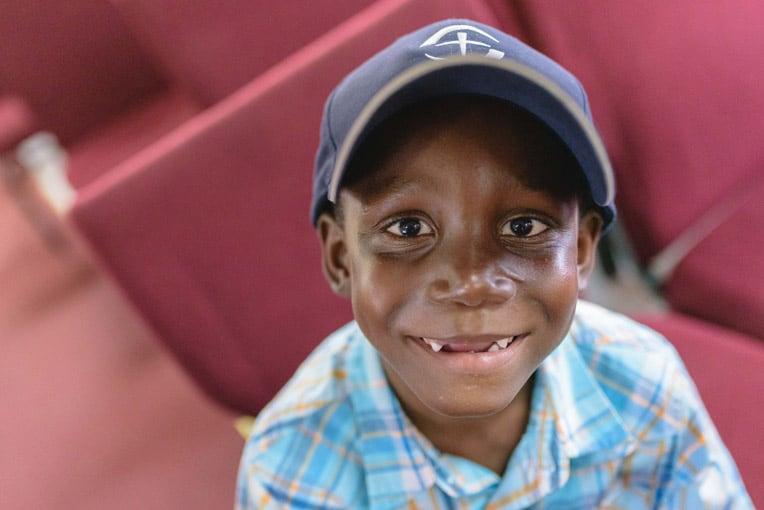 This young boy was among many who received Operation Christmas Child shoeboxes in Antigua this weekend.