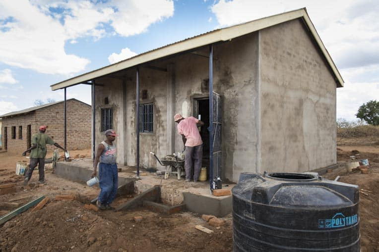 Samaritan's Purse built this new classroom for a school in Kitui, Kenya.