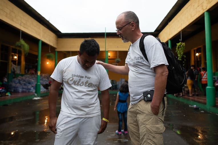 Samaritan's Purse staff are on the ground praying and encouraging families, as well as distributing emergency supplies.