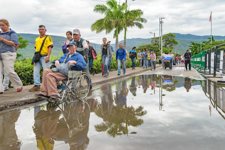 Every day thousands of migrants travel from Venezuela to Colombia where they hope to help meet their families' basic needs.