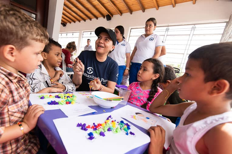 Samaritan's urse is partnering with a local church in Cucuta to minister to Venezuelan migrants of all ages.