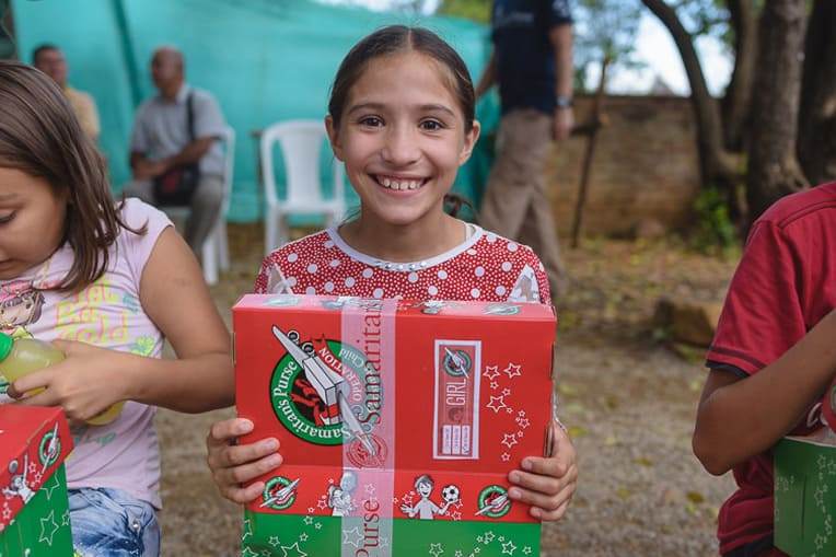 Many thousands of Colombian and Venezuelan children will be receiving gift-filled shoeboxes this year.
