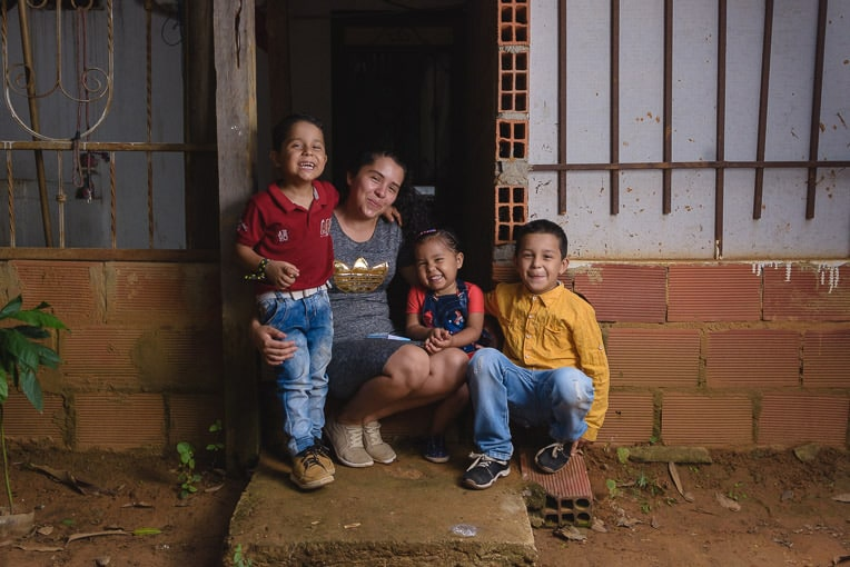 Yariana's three children received Operation Christmas Child shoeboxes. They fled from Venezuela in 2016 and have started a new life in Colombia.