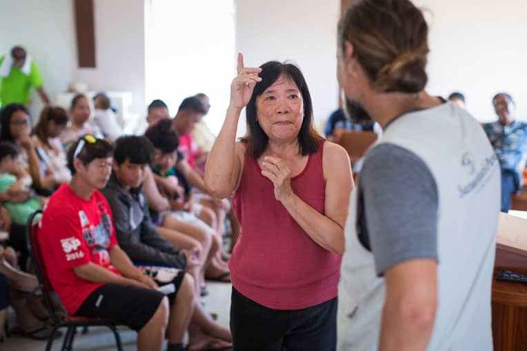 """""""Thank you for coming from far-away places to help us in times of distress. You came to our rescue,"""" Angelita said."""