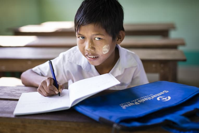 Samaritan's Purse hygiene clubs provide children like 11-year-old Chaw an opportunity to have fun as they learn.