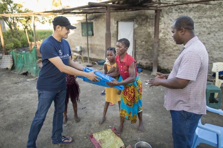 In addition to bringing emergency shelter materials, Samaritan's Purse is providing water filters, mosquito nets, and medical assistance to survivors.