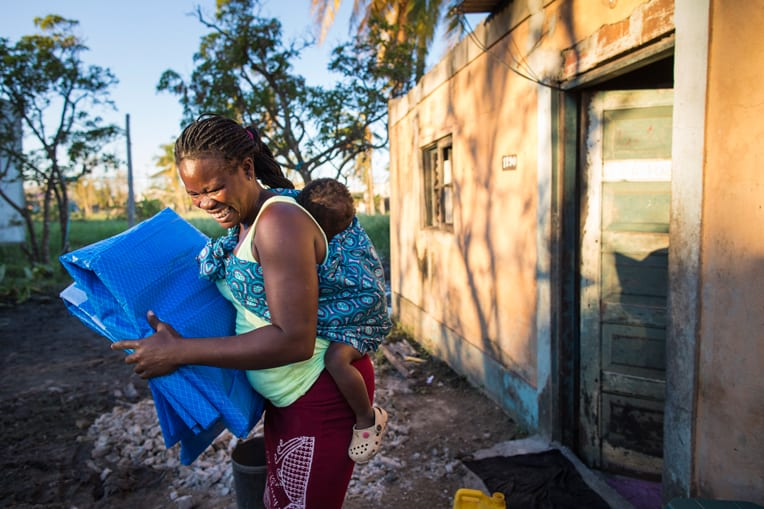 Shelter materials and other supplies will help families get back on their feet after Cyclone Idai ripped up homes and flooded communities.