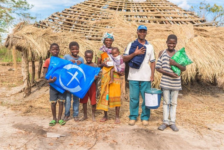 The Ignacio family was grateful to receive help from Samaritan's Purse.</p></div> <p>Samaritan's Purse provided their family with a heavy-duty plastic tarp, a water filtration unit, and a blanket after arriving to their remote village by boat.