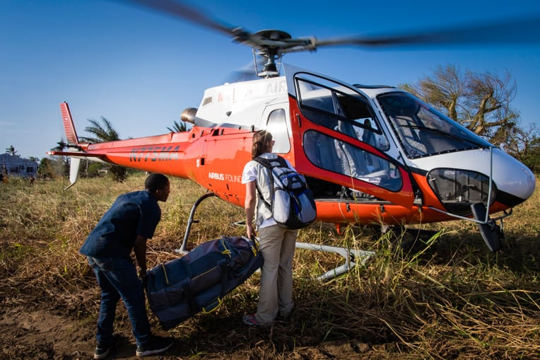 Our teams are airlifting medical supplies and equipment to areas cut off by flooding.