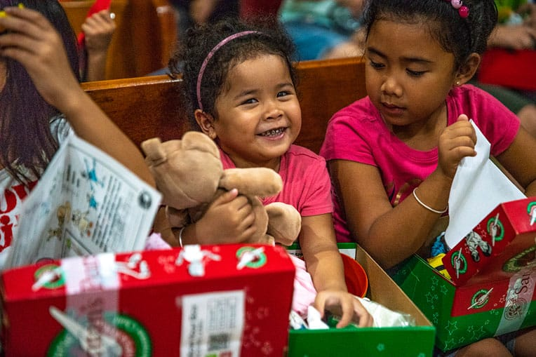 Gift-filled shoeboxes are tangible expressions of God's love.
