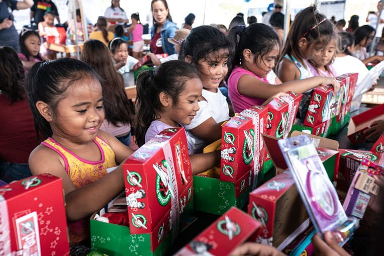Nearly 12,000 children on Saipan have received shoebox gifts in recent weeks.