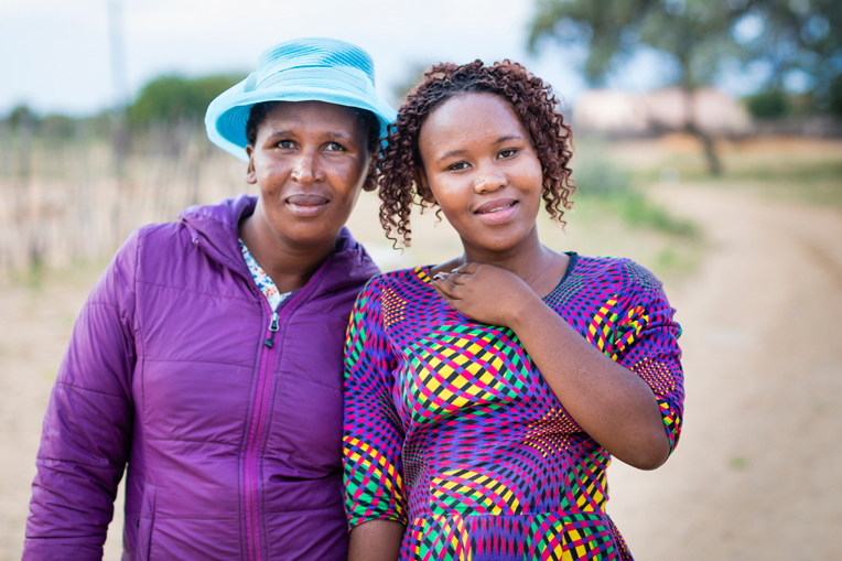 We thank God that He saved Agnes Khumo, right, and her mother, Gomotsegang Khumo, and restored their relationship with each other. Agnes came to faith when she received an Operation Christmas Child shoebox.