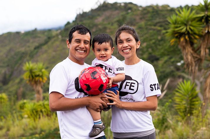 Diana Martinez with her husband Esteban and son Pablo. Their family is serving the Lord in Ecuador.