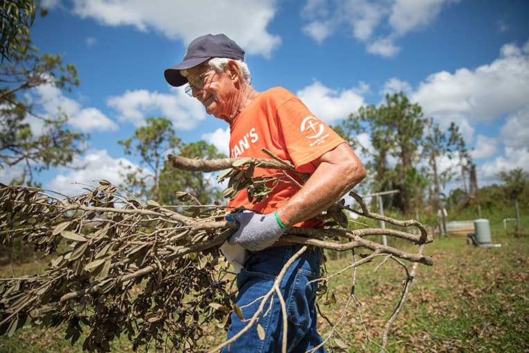 Frank Whitney is 80 years old and a long-time supporter of Samaritan's Purse. .