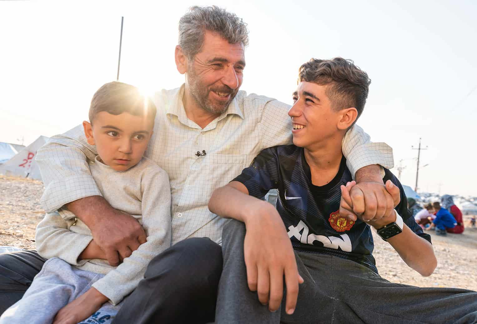 This Syrian family is thankful to have reached the relative safety of northern Iraq.
