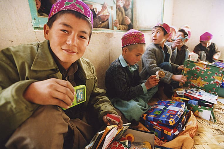 2002 - We distributed nearly 120,000 shoebox gifts to children in Central Asia.