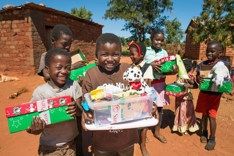 2016 - Gift-filled shoeboxes have brought the hope of Jesus Christ to 3 million children in Zambia.