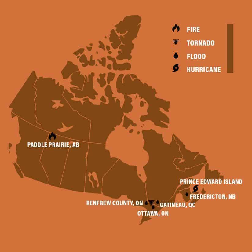Samaritan's Purse Canadian Disaster Responses in 2019