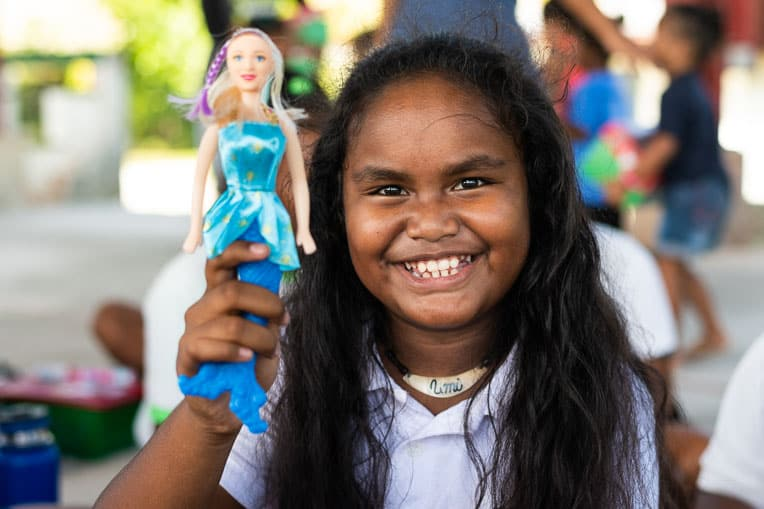 "This ""wow"" toy delighted a shoebox recipient in Palau."