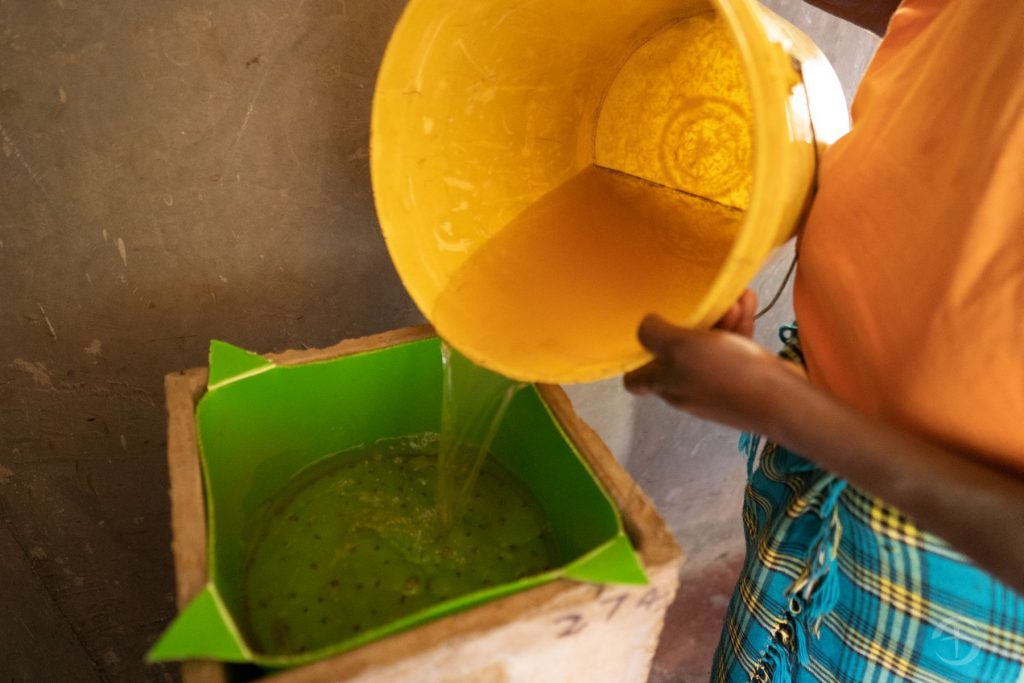 A BioSand Water Filter provides safe water for families. Recipients of the filters are trained in how to use and maintain the filters, as well as basic health and hygiene practices.