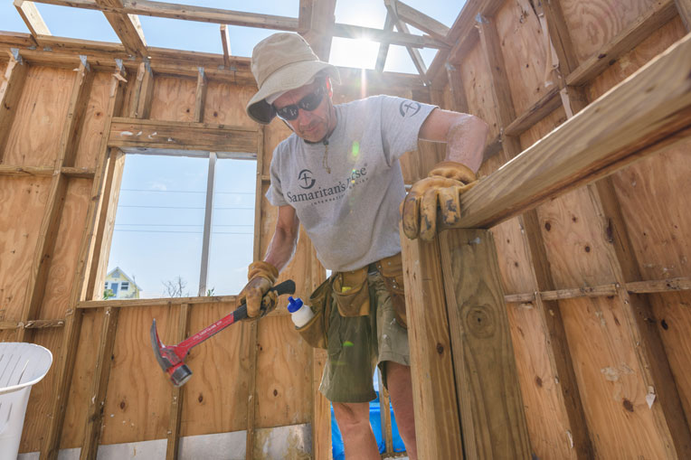 Dave Yurek volunteers his time to assist homeowners on Elbow Cay.