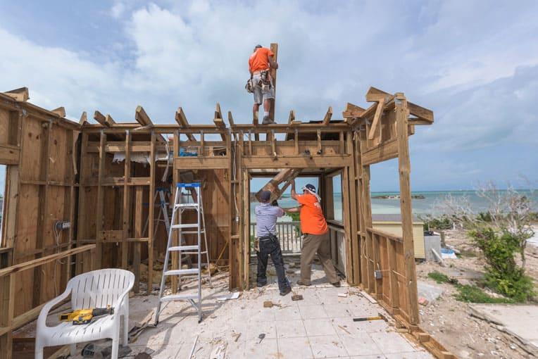 We're rebuilding homes destroyed in Hurricane Dorian.