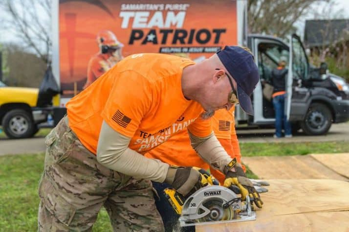 Team Patriot is an opportunity for Operation Heal Our Patriots participants to volunteer after natural disasters.