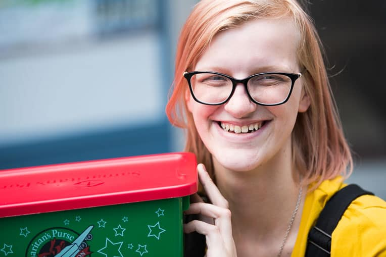 Even while living with Ehlers-Danlos syndrome, Amanda radiates joy and loves to pack shoeboxes!