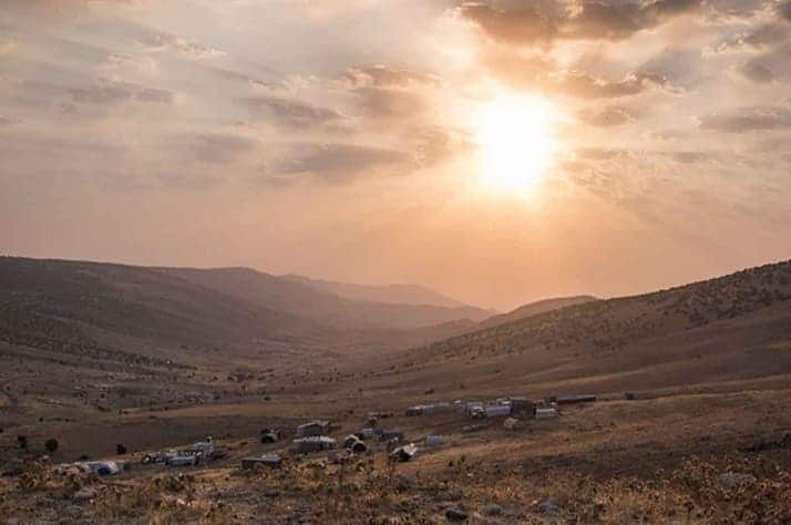 The sun shines over a village in Sinjar, Iraq, offering promise of brighter days ahead.