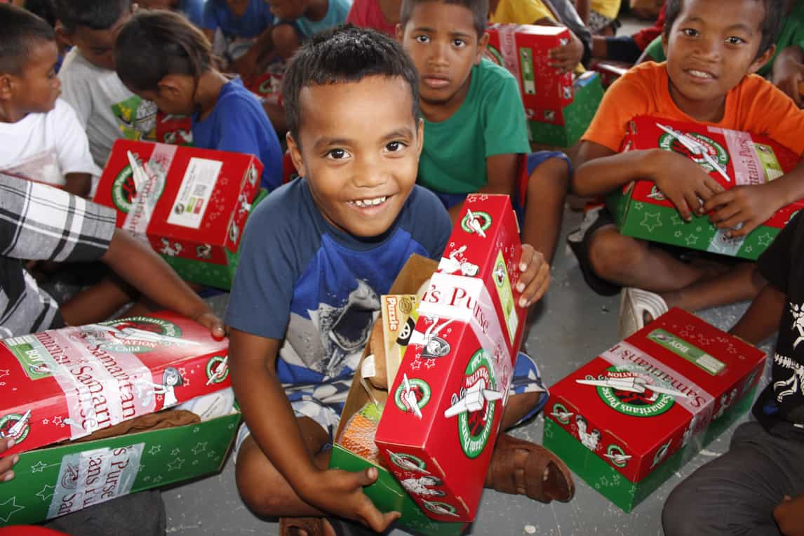 Children rejoice to receive their very own shoebox gift!