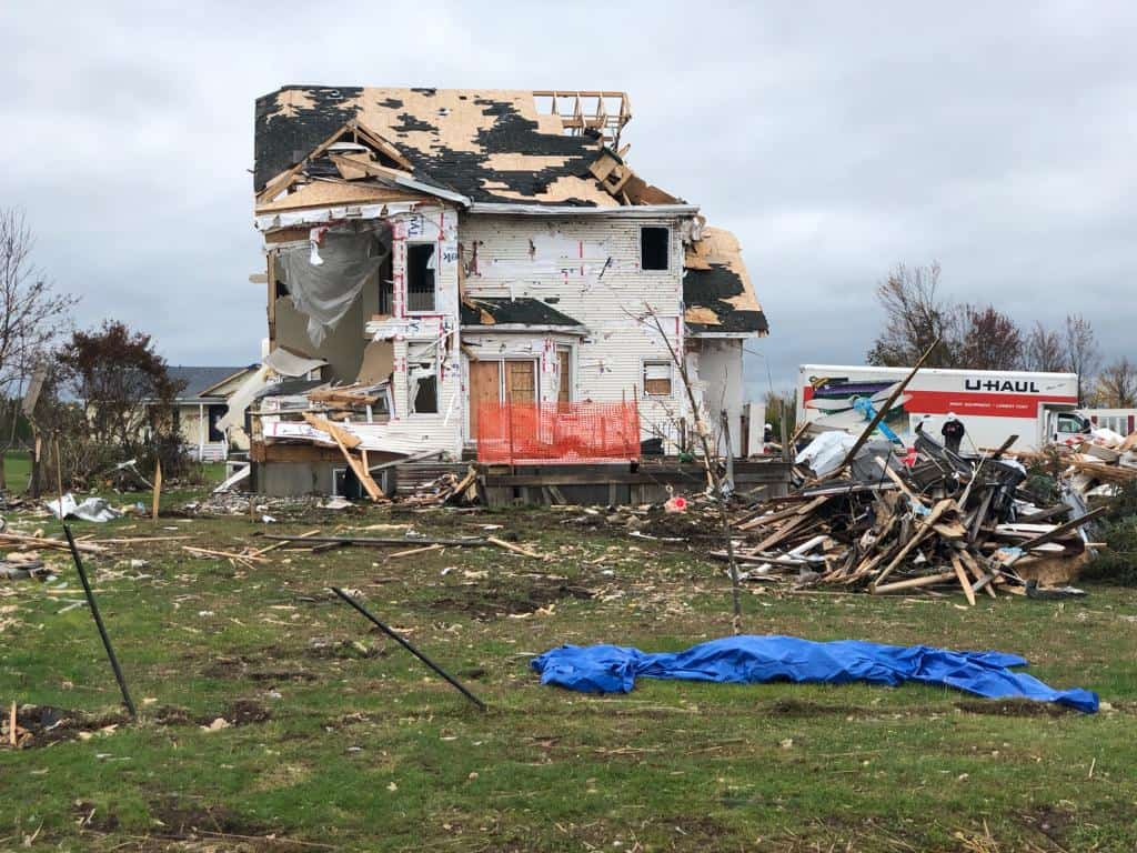 More than 40 homes in the community of Dunrobin alone were flattened or destroyed.