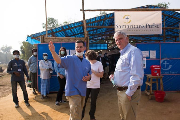 Franklin Graham visited our Diphtheria Treatment Center in Bangladesh.