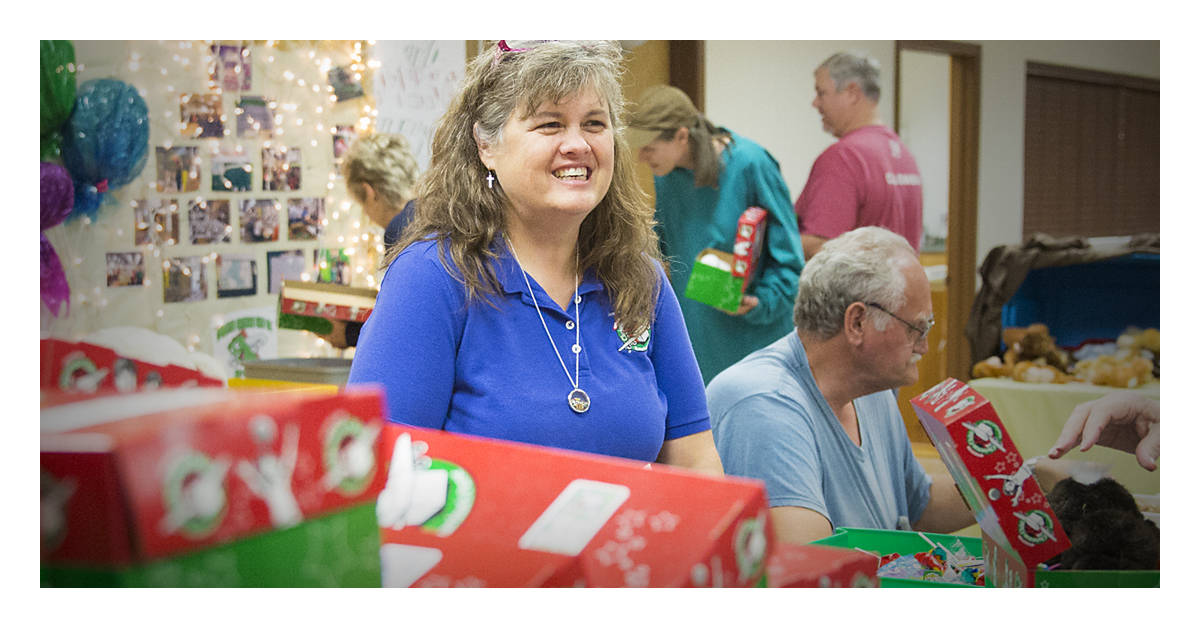 Operation Christmas Child year-round volunteers use their talents and abilities together with other volunteers around the world to bring Good News and great joy to children in need and their families through shoebox gifts.
