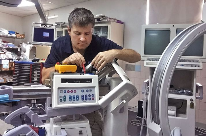 Monte Oitker is one of our technicians who works hard making sure that medical equipment at mission hospitals is up and running.