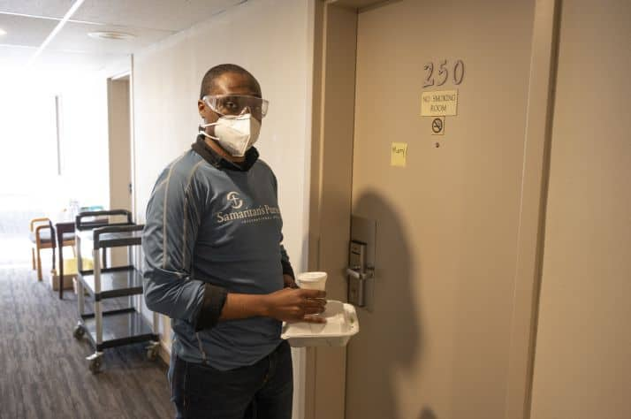 Samaritan's Purse staffers provided emergency stop-gap support, which included cleaning rooms, transporting food, caring for the needs of residents, and more.
